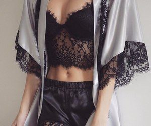 black, sexy, and lace image