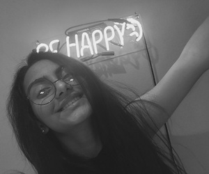 b & w, neon, and happy child image