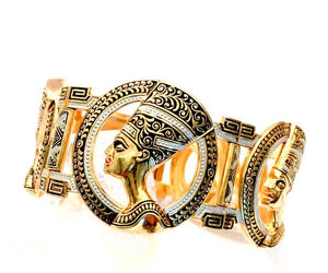 etsy, vintage jewelry, and gold tone image