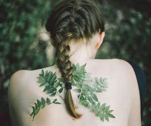 art, back, and braid image