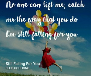 falling, song, and love image