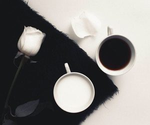 coffee, black, and rose image