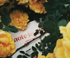 book, flowers, and note to self image