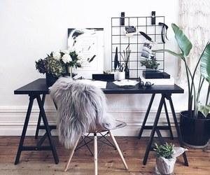 room, desk, and plants image