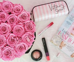 flowers, makeup, and roses image