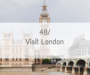 bucket list, follow me, and visit london image