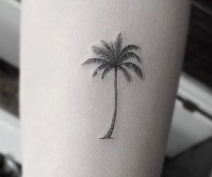 tattoo, palm tree, and beach image