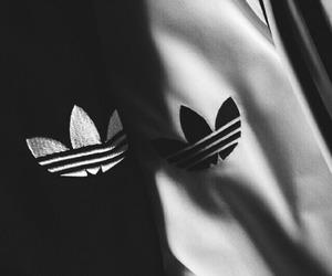 black, white, and adidas image