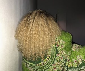 blonde, natural, and blonde curls image