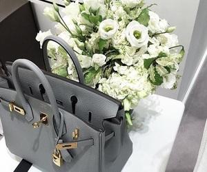 hermes, flowers, and birkin bag image
