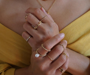 fashion, necklace, and rings image
