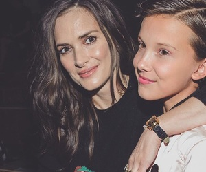 winona ryder and millie bobby brown image