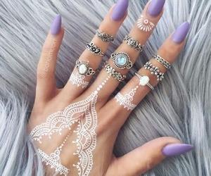 black, henna, and jewels image