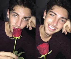 boy, rose, and denjiel image