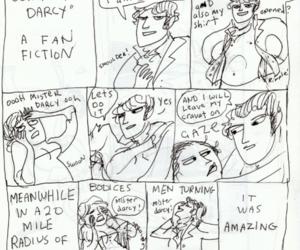 cartoon, mr darcy, and funny image