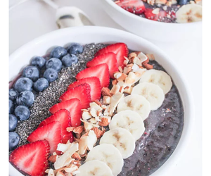 bananas, blueberries, and food image