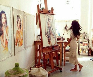 art, painting, and artist image