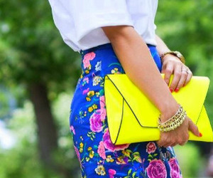 bag, blue, and blue heels image