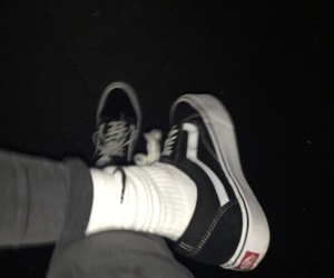 vans, dark, and grunge image