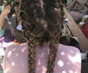 braids, brown, and follow image