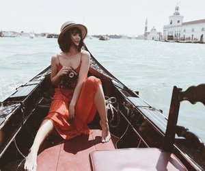 boat, venice, and dress image