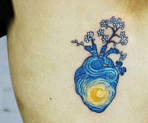 tattoo, art, and heart image