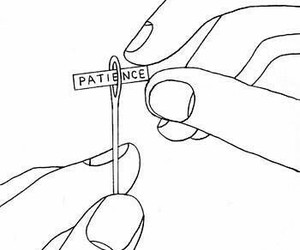 patience, art, and drawing image