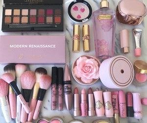 makeup, pink, and cosmetics image