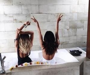 bath, girls, and luxury image