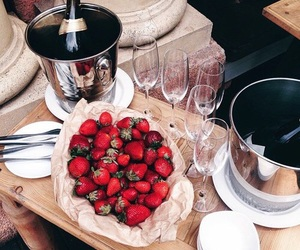 strawberry, food, and luxury image