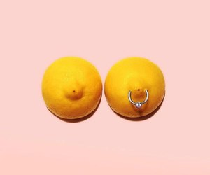 boobs, lemon, and nipple image