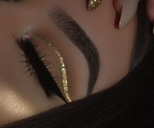 contacts, dress, and eyes image