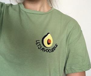 avocado and girl image