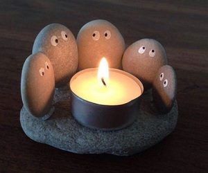 stone, diy, and candle image