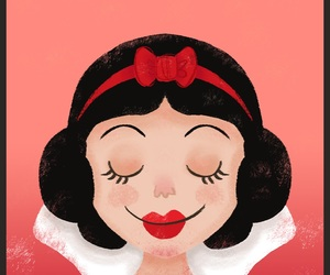 art, drawing, and snow white image