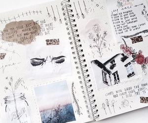 doodle, drawing, and journal image