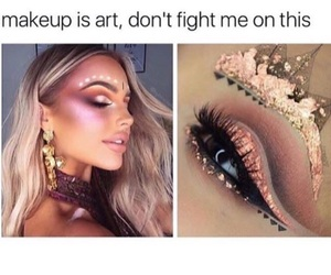 makeup, art, and beauty image