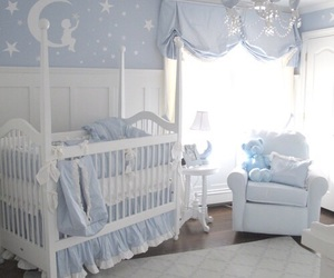 baby, bedroom, and blue image