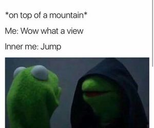 funny, meme, and kermit image