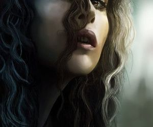bellatrix lestrange, harry potter, and helena bonham carter image