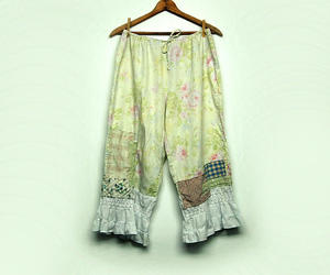 etsy, cotton pants, and shabby cottage chic image