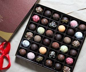 box, chocolate, and truffles image
