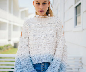 blue, pullover, and sweater image