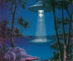alien, ufo, and art image