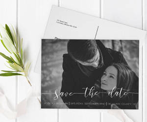 etsy, calligraphy invite, and save the date cards image