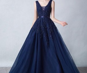 blue, dark blue, and dresses image