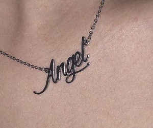 angel, grunge, and necklace image