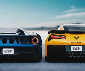 chevrolet, Corvette, and ford gt image