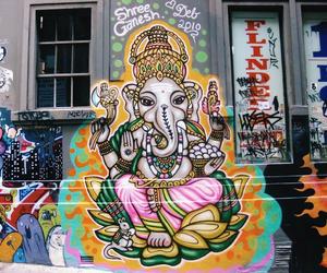 art, elephant, and graffiti image