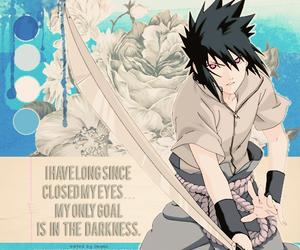 anime, naruto, and sasuke image